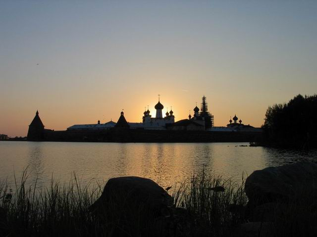 Sunset at Solovetsky Monastery