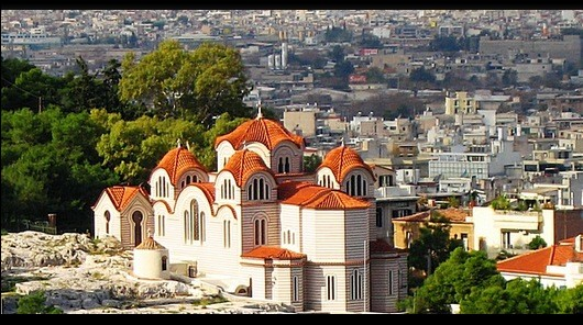 The Church of Ayia Marina in Athens.