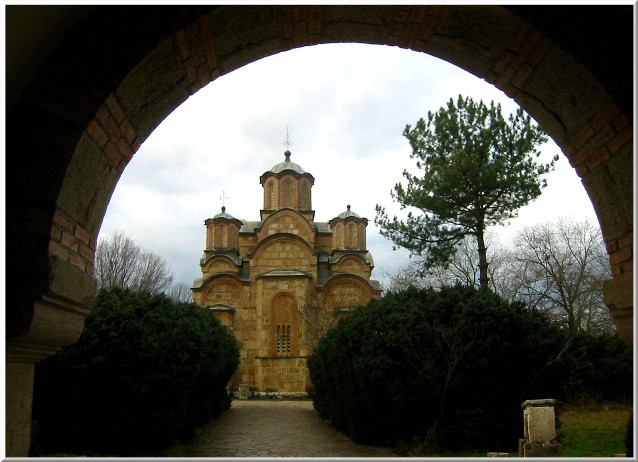Gracanica monastery - Church of the Dormition of the Holy Virgin.around 1312 // 2