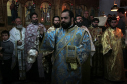 nikosart   Vespers on the feast of Saint Nicholas the Wonderworker, Archbishop of Myra.  2010-12-10 18:18:19