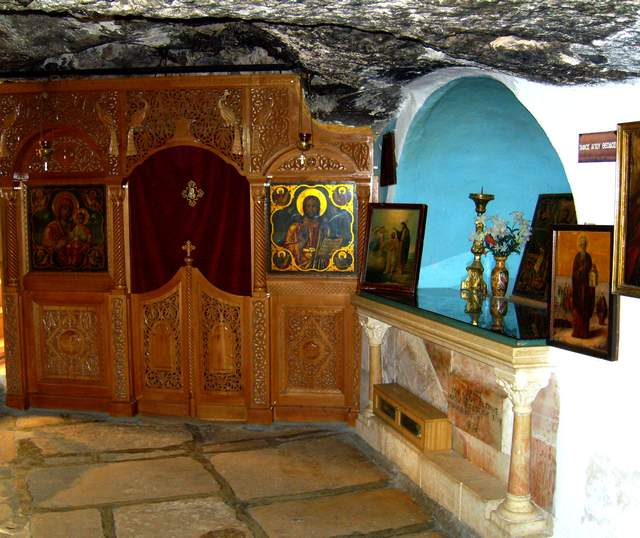 Tomb of St. Theodosius in the cave of The Pious