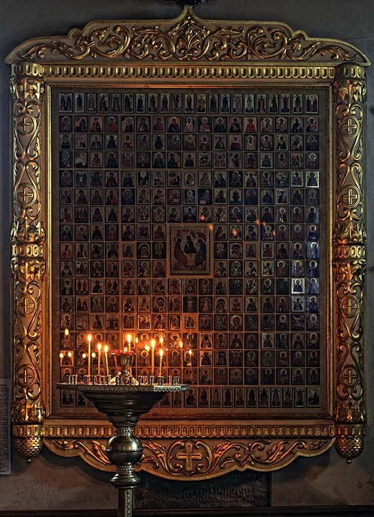 Icon of One Hundred Saints in the Church of the Nativity of the Virgin in Putinki, Moscow, Russia