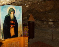 jerusalempics  Cave of Saint Theodosius the Cenobiarch -11 January   2011-01-15 16:17:14