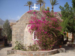 jerusalempics  Orthodox Monastery of nuns Pharan an oasis in middle of desert  from Sinai Peninsula.  2011-01-21 16:40:07