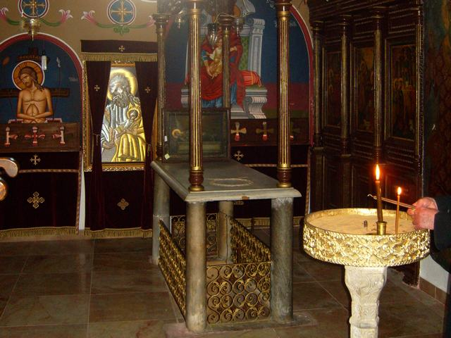 Tomb of The Holy and Righteous Symeon in Church of The Holy and Righteous Symeon in Jerusalem.