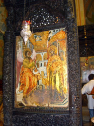 jerusalempics  One old icon of Annunciation from Orthodox Church of Annunciation - Nazareth.  2011-03-25 14:26:01