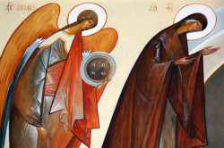 nikosart  Icon of the iconostasis of Saint Trinity and Saints Cosmas and Damian parish, Brussels   2011-04-14 14:00:52