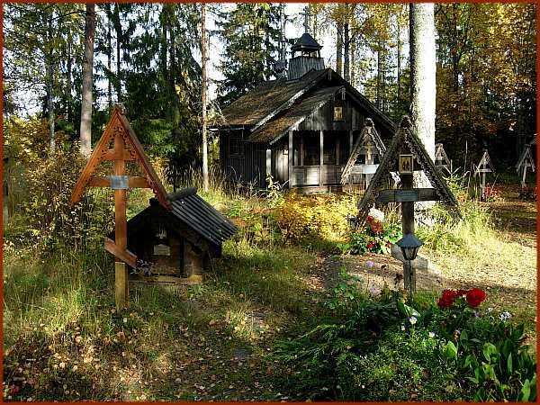 Resting in Peace. New Valamo Monastery Cemetery. Finland