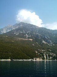 nikosart  The west side of Mount Athos and the Skete of Saint Anne  2012-03-09 19:50:45