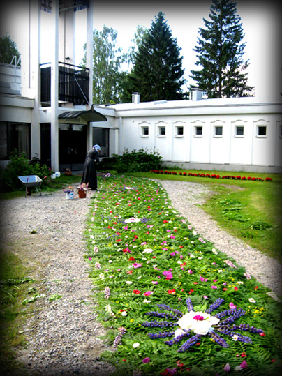 Flower carpet of  Lintula monastery