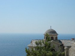 Tanya  Monastery of Archangel Michael, Greek island Thassos  2013-08-28 13:07:04