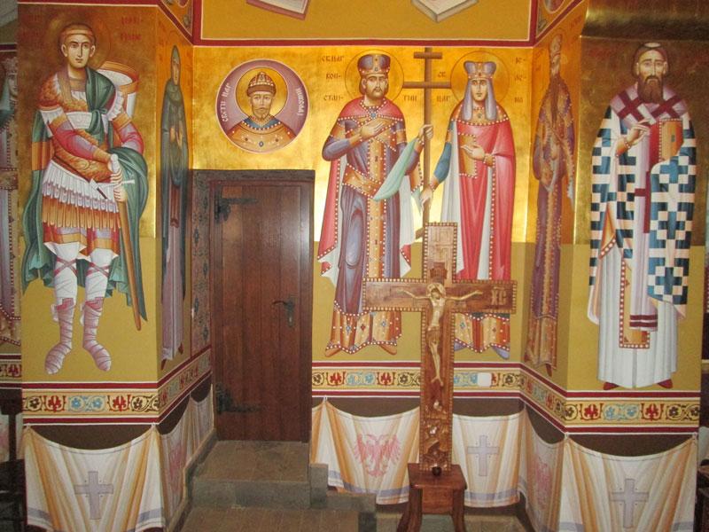 Фреске у цркви Светог саве у селу Грачац-Church of Saint Sava in Gracac