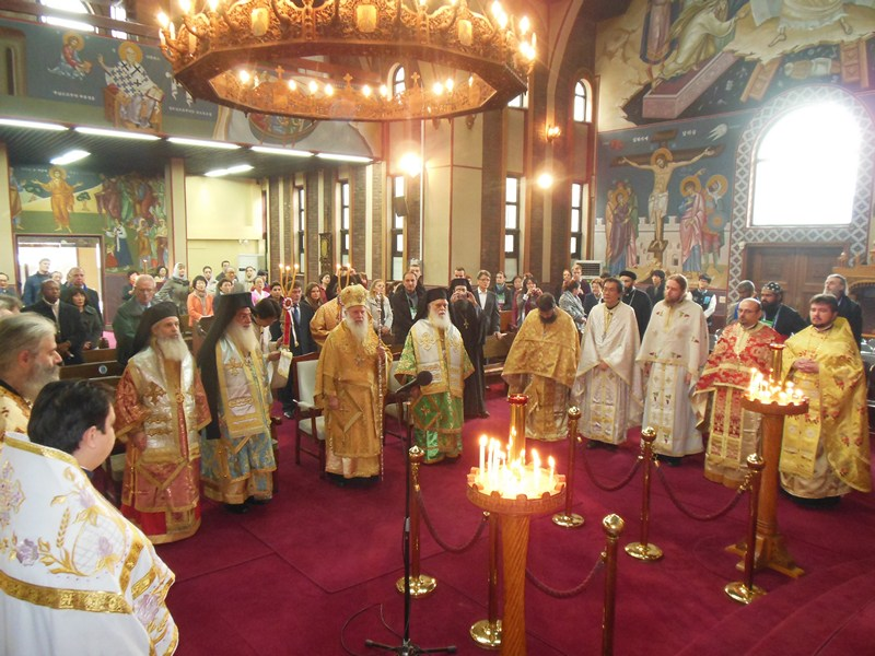 Divine Liturgy in St. Nicholas Orthodox Church in Seul, Korea