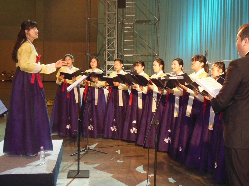 Korean church choir...