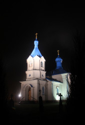 jarek1  Orthodox church in Dubiny by night  2013-11-23 13:31:51