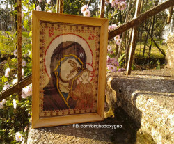 lashaoc  Embroidered icon of the Virgin Mary  2013-12-05 17:26:13