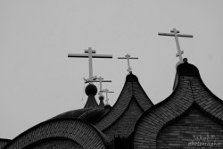 Perlaaa  Crosses on orthodox church of the Holy Spirit in Białystok  2014-01-07 14:42:08