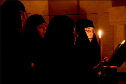 ioakeim  Divine Liturgy in Catacombs  2014-04-02 23:19:28