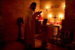 ioakeim  Divine Liturgy in Catacombs  2014-04-02 23:22:35