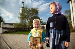 dennis-spb   Nikolo-Ostrovsky monastery in Kaluga district. Russia. 2014. Orphan female child hous.