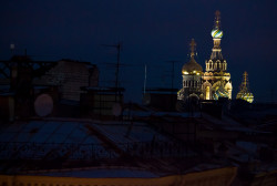 dennis-spb  Saint-Petersburg. Spas-na-Krovi Dom from the roof at winter early morning.  2014-10-21 20:30:28