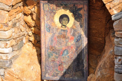 Ned  St.George icon on the coast of the Mount Athos  2014-12-25 01:47:48