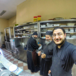 paulos4205  Washing dishes in our monastery in Veria-Greece  2015-05-08 18:22:42