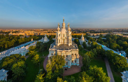 Solega   Smolny Cathedral, view from the embankment  2015-07-08 18:09:58