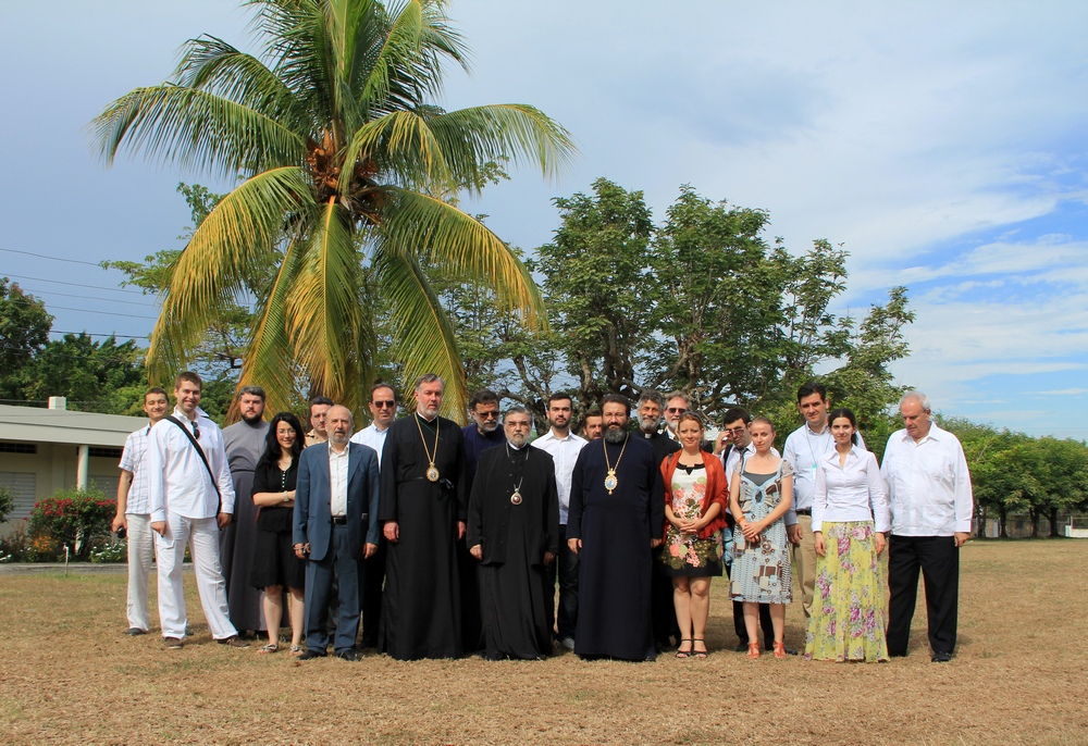 The group of Orthodox people on Jamaica