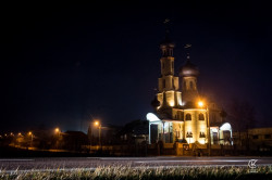 kanik  St Panteleimon church during the night  2016-01-25 19:01:17