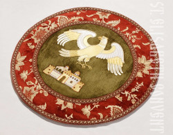 Catalog   Eagle Rug with Embroidery