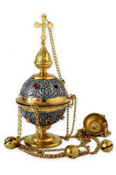 Catalog   Gold and Silver Censer with Bells