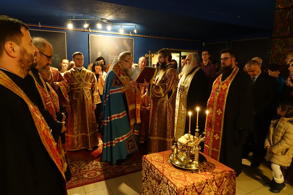 The All-night vigil in St. Gregory Peradze chapel in Warsaw