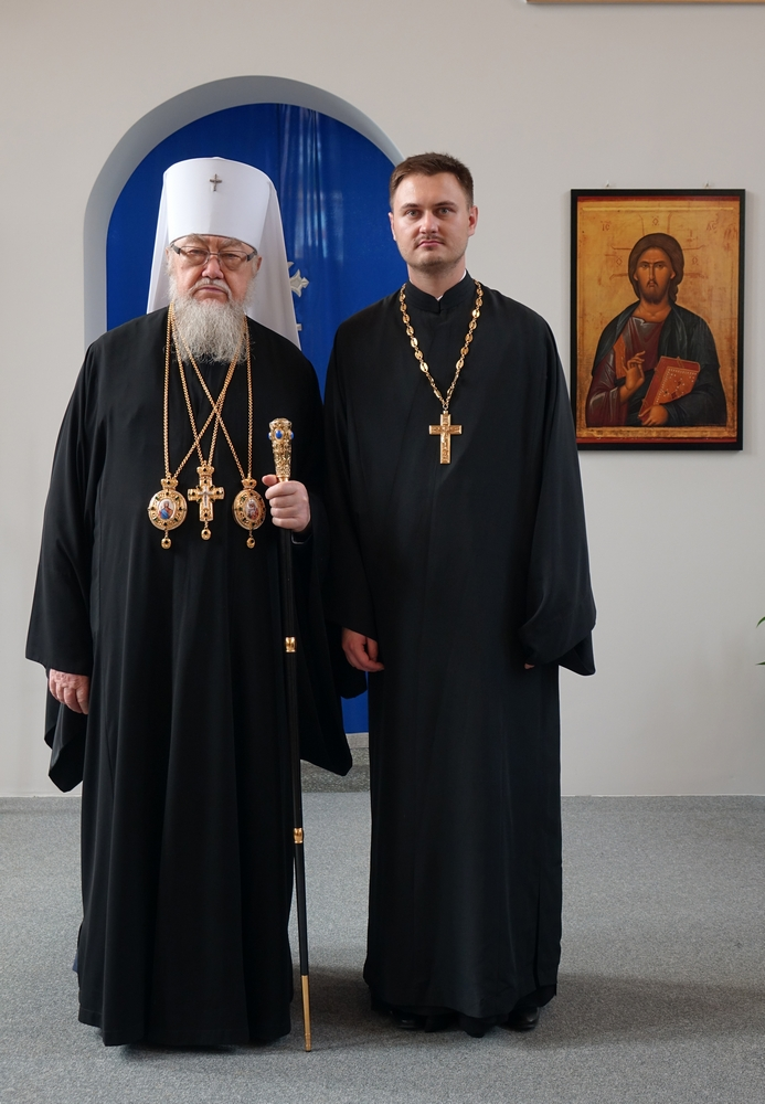 Metropolitan of Warsaw and All Poland Sawa and Fr. Paul Cecha
