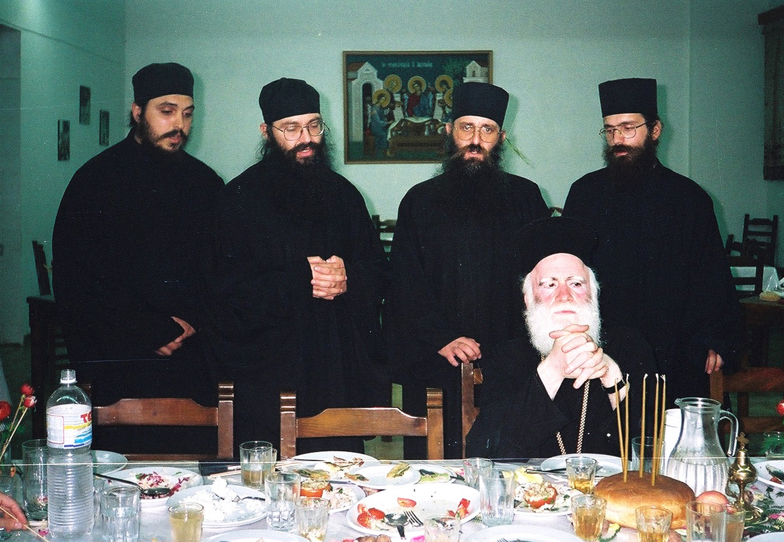 Previous metropolitan Ireneos of Crete with clergy, 1994