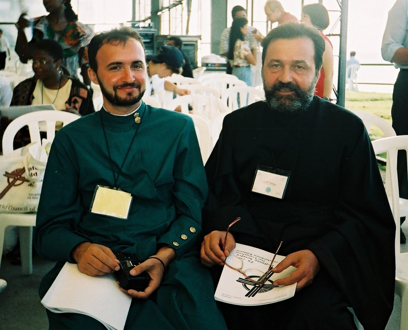 Archimandrite January (on a right) and a priest from Romania at a conference in Brazil, 1996