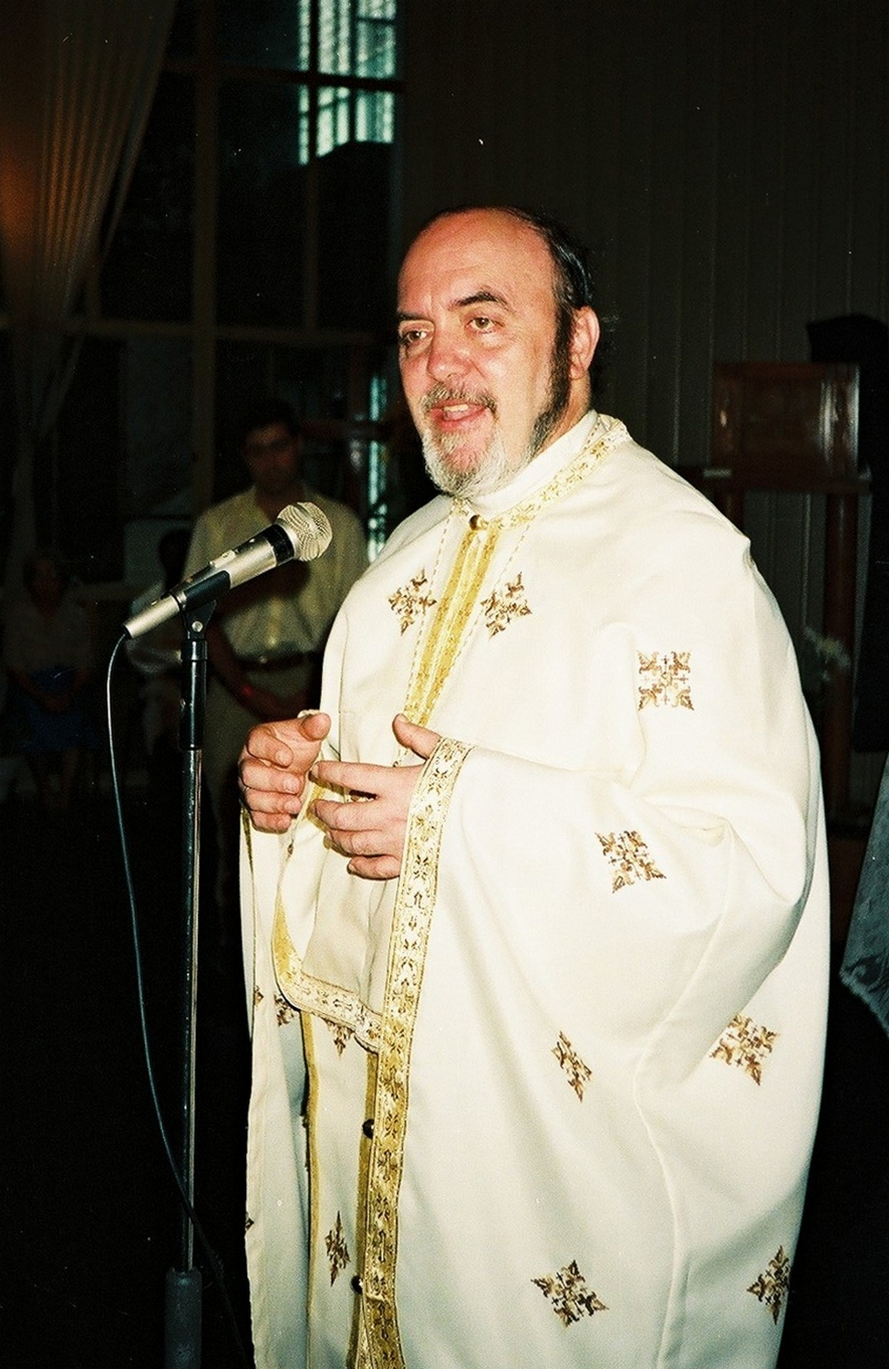 Fr. Michale Oleksa from Alaska at a conference in Brazil, 1996