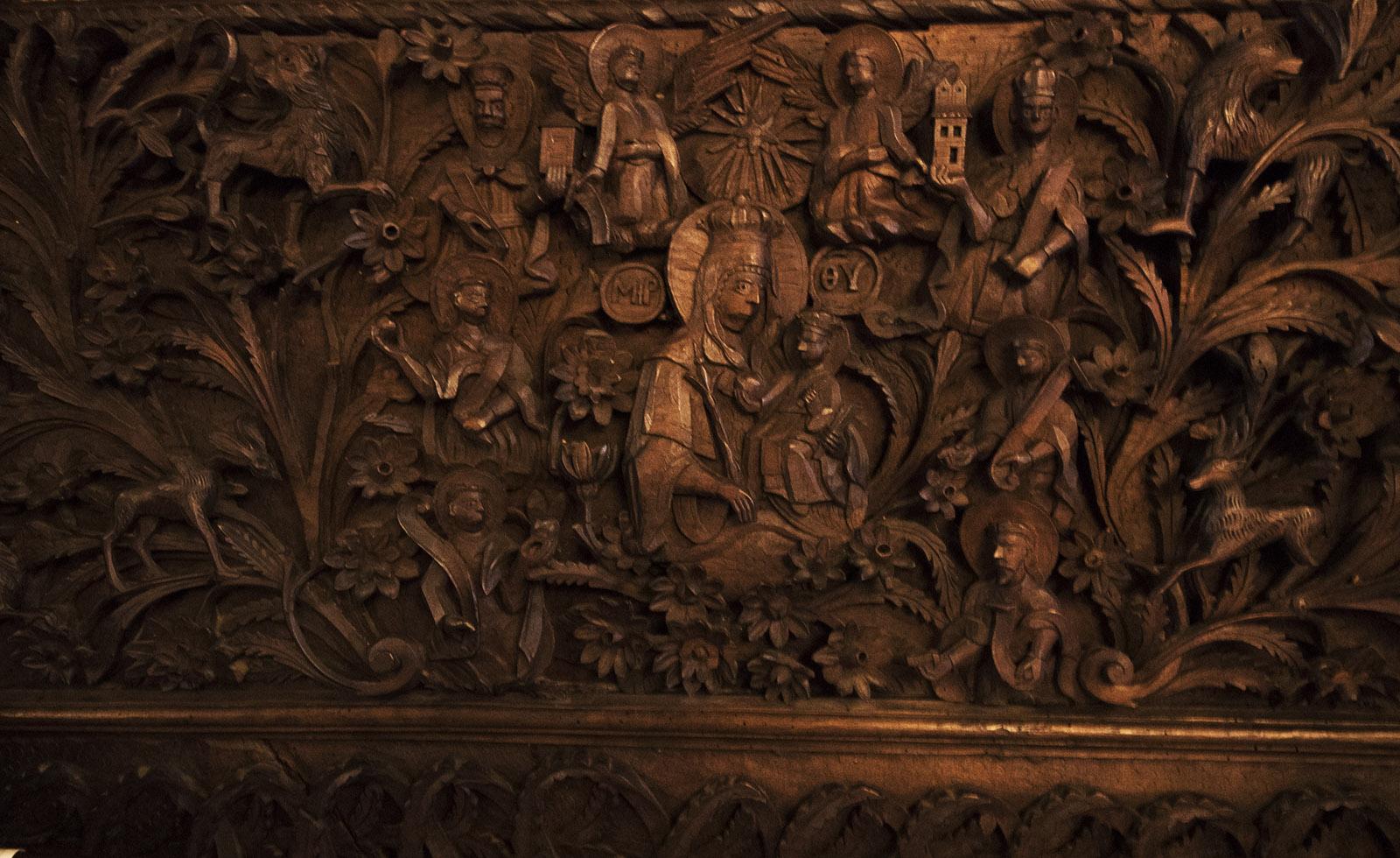 Orthphoto Detajl Ot Ikonostasa V Crkvata Sv Bogorodica Gr