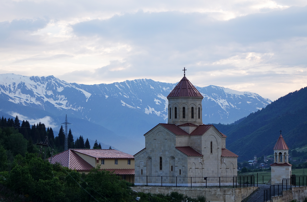 One of the Orthodox churches in Mestia...