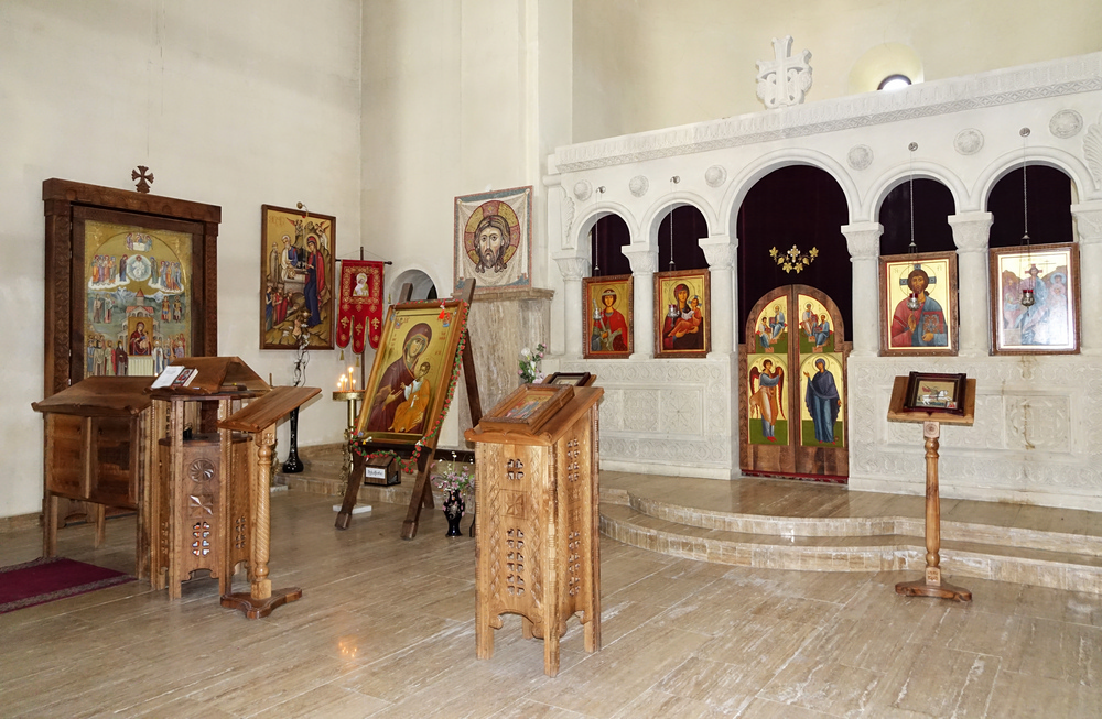 The interior of the Orthodox convent in Mestia