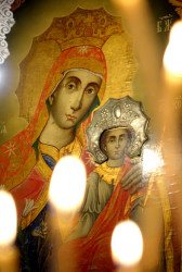 jarek1  The Mother of God icon in St. Michael Archangel Orthodox church in Skandalato  2017-08-28 22:13:45