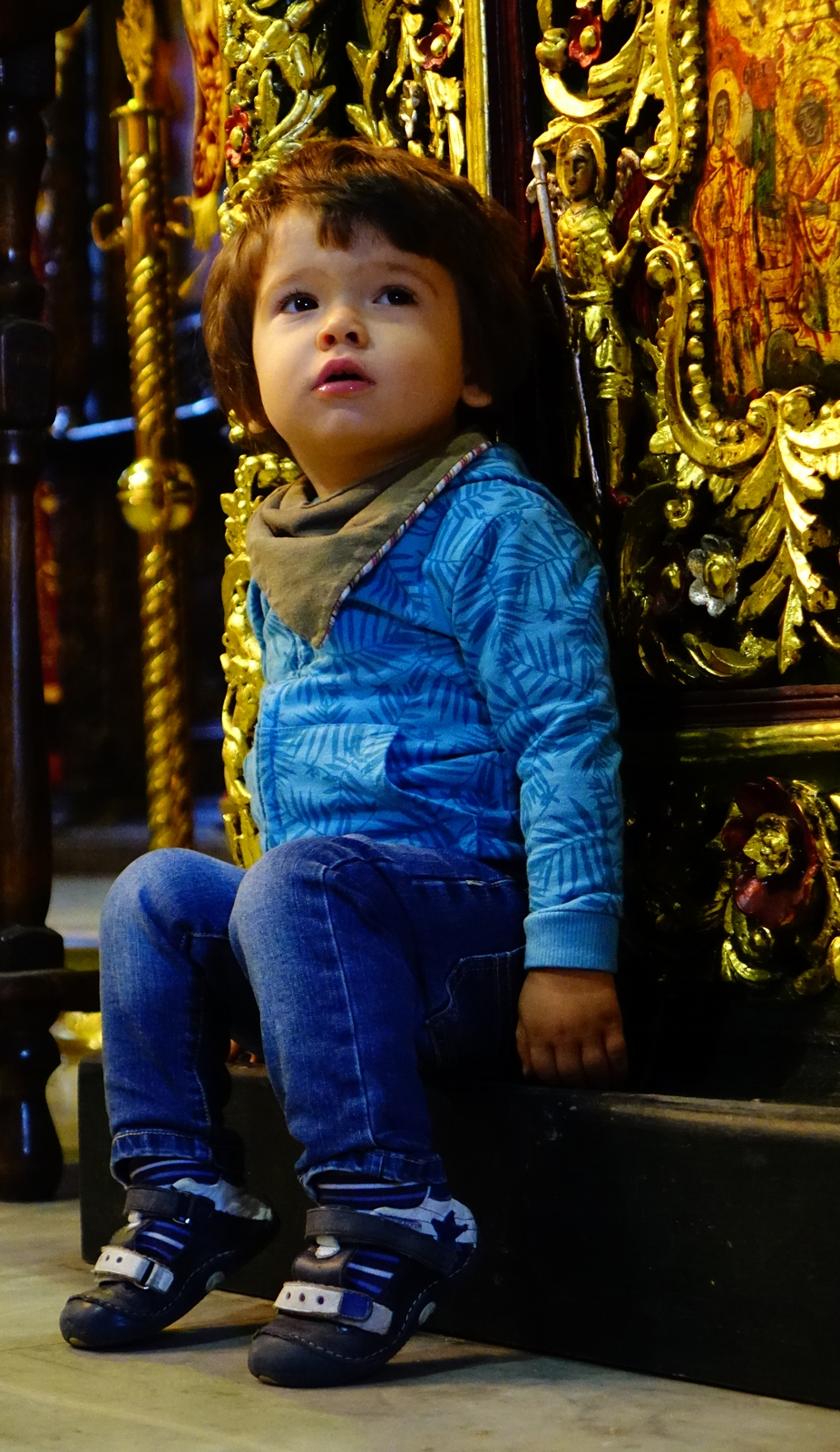 A child in the church