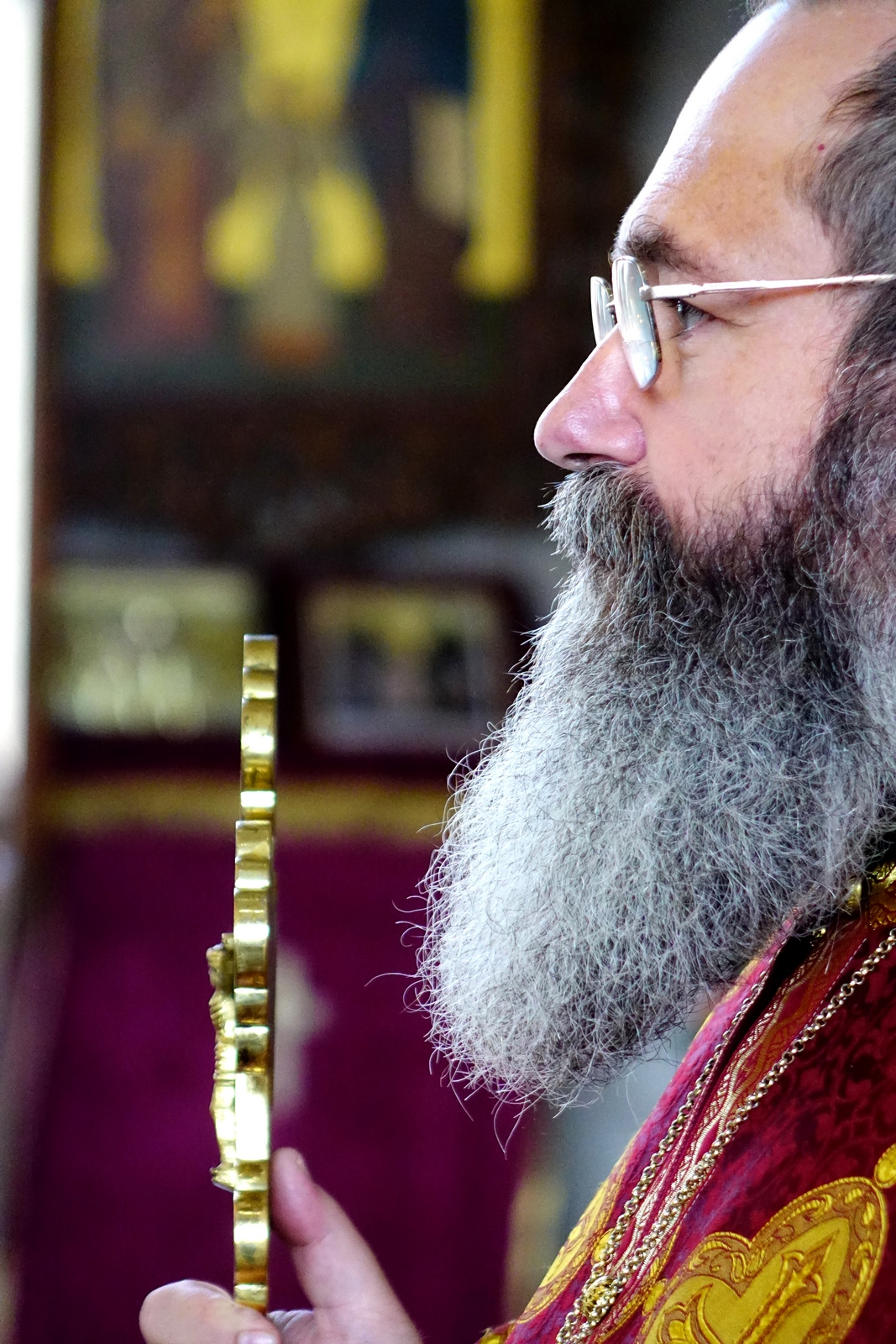Fr. Angel in St. John the Baptist Orthodox church