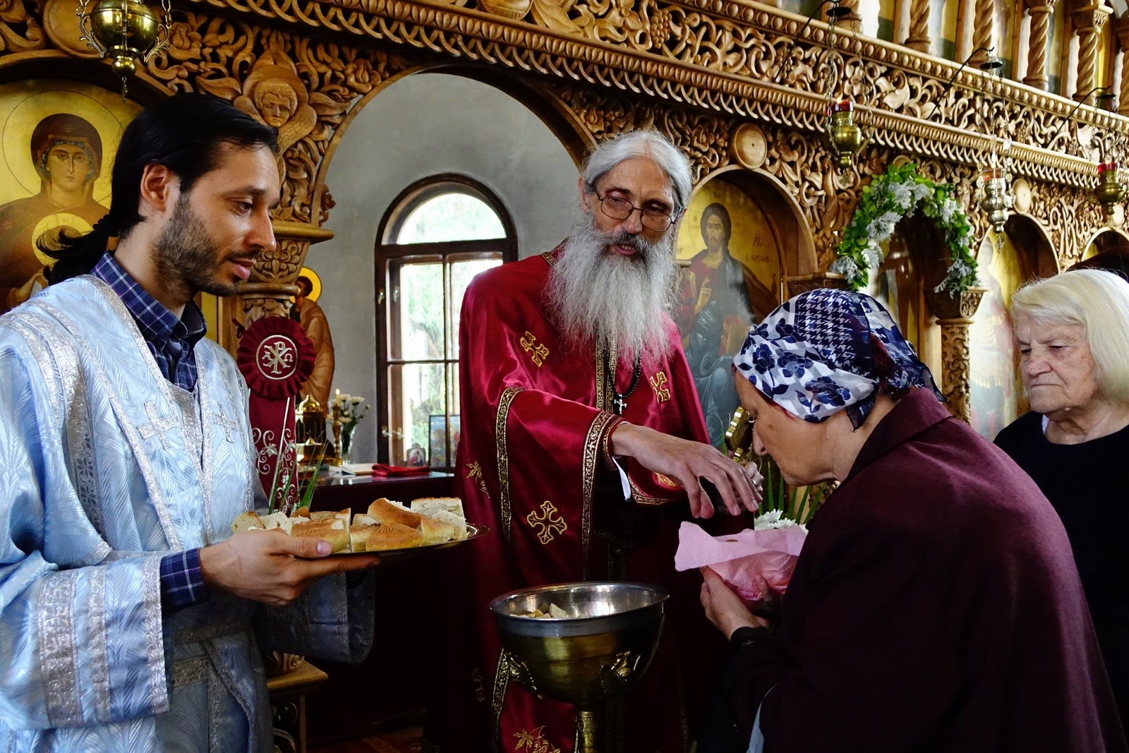 After Divine Liturgy in St. John the Baptist Orthodox church in Sofia-Obelya