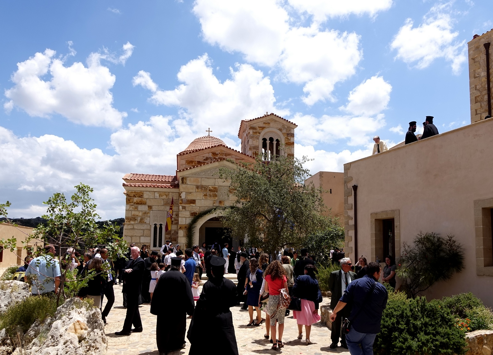 "In the monastery of the Mother of God ""Life-Giving Spring"" on Crete"