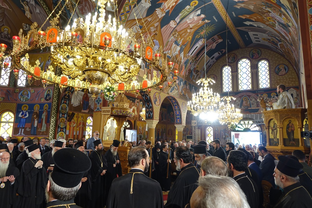 The Divine Liturgy in Annunciation Cathedral in Kissamos