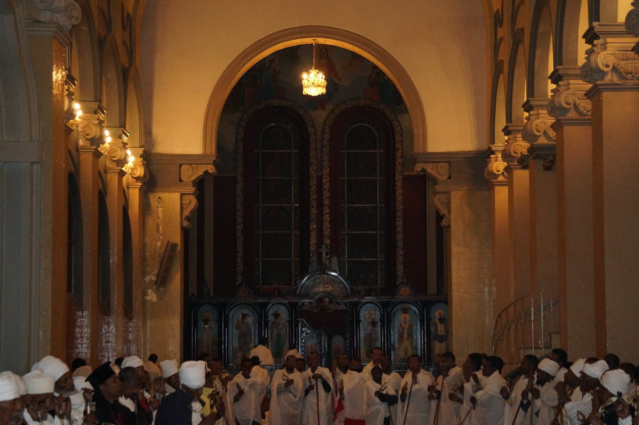 Easter Service at the Holy Trinity Cathedral, Addis Ababa