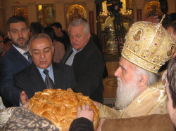 PedjaVid  Breaking the holy Slavic cake for the holiday of St. Sava  2018-01-27 19:21:05