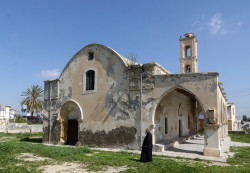 Destroyed St. George Orthodox church in Vadili, under Turkish occupation
