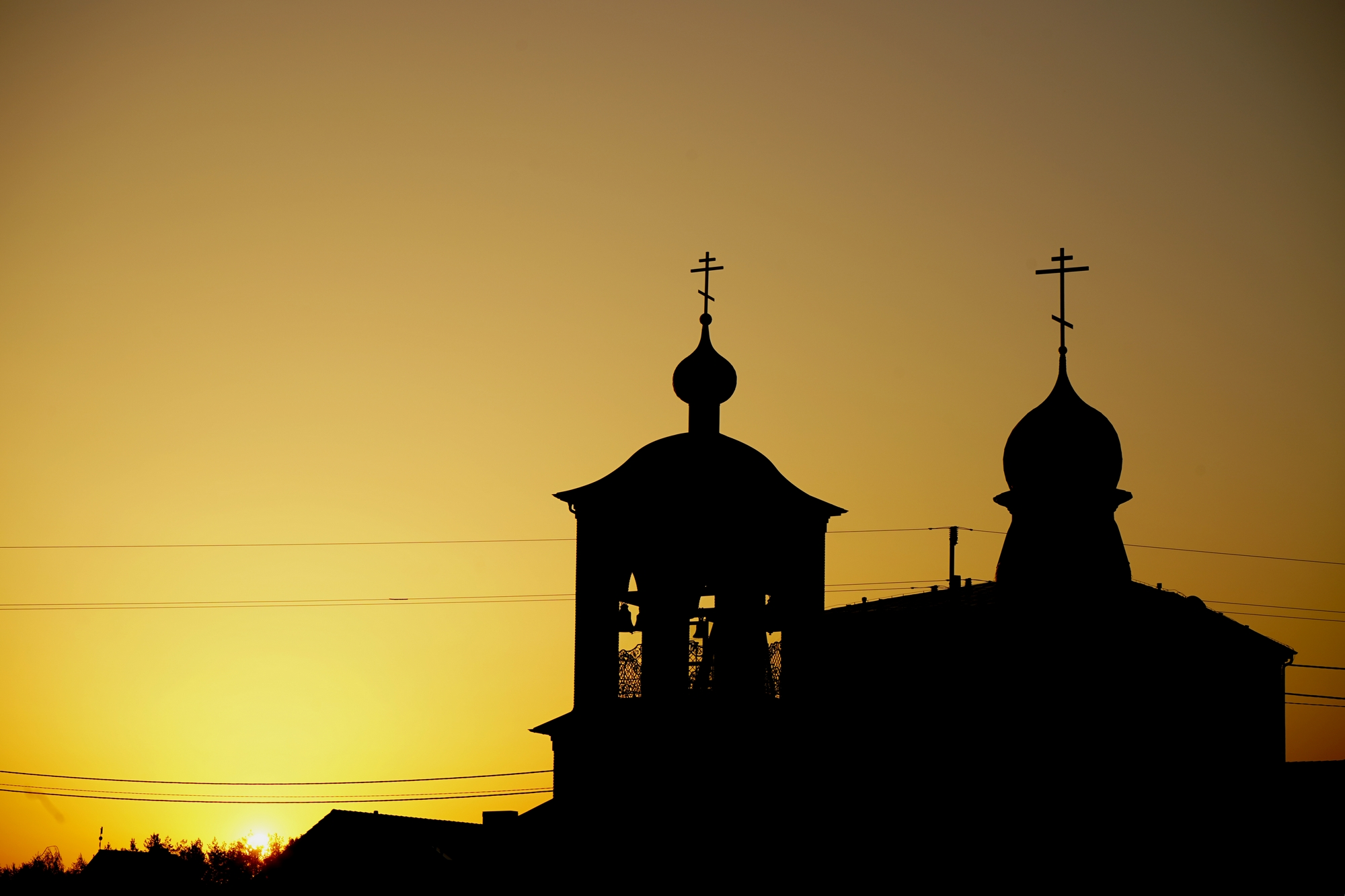 Sunrise over Zwierki Convent